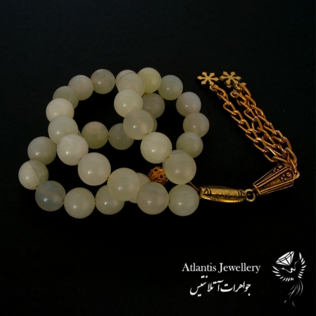 دستبند پهن سنگ رزکوارتز Rose quartz